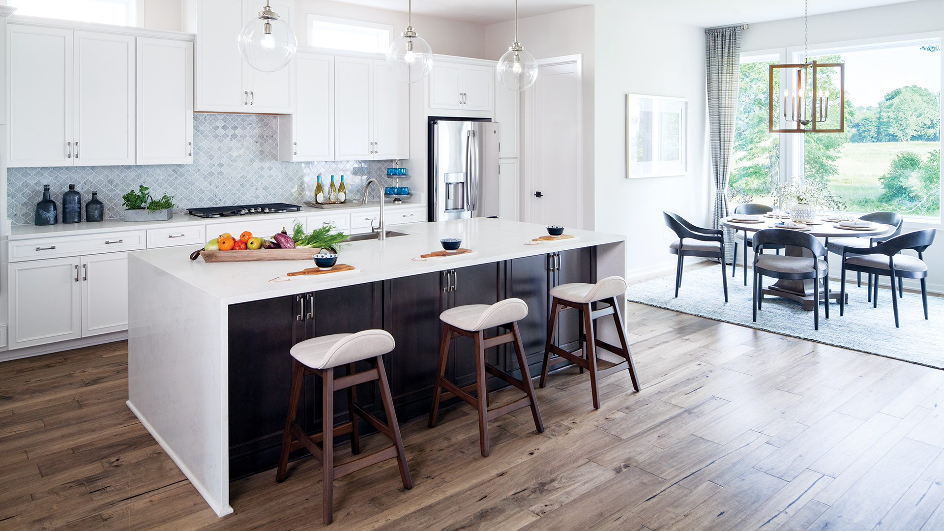 Well-appointed kitchens with an abundance of cabinet and counter space