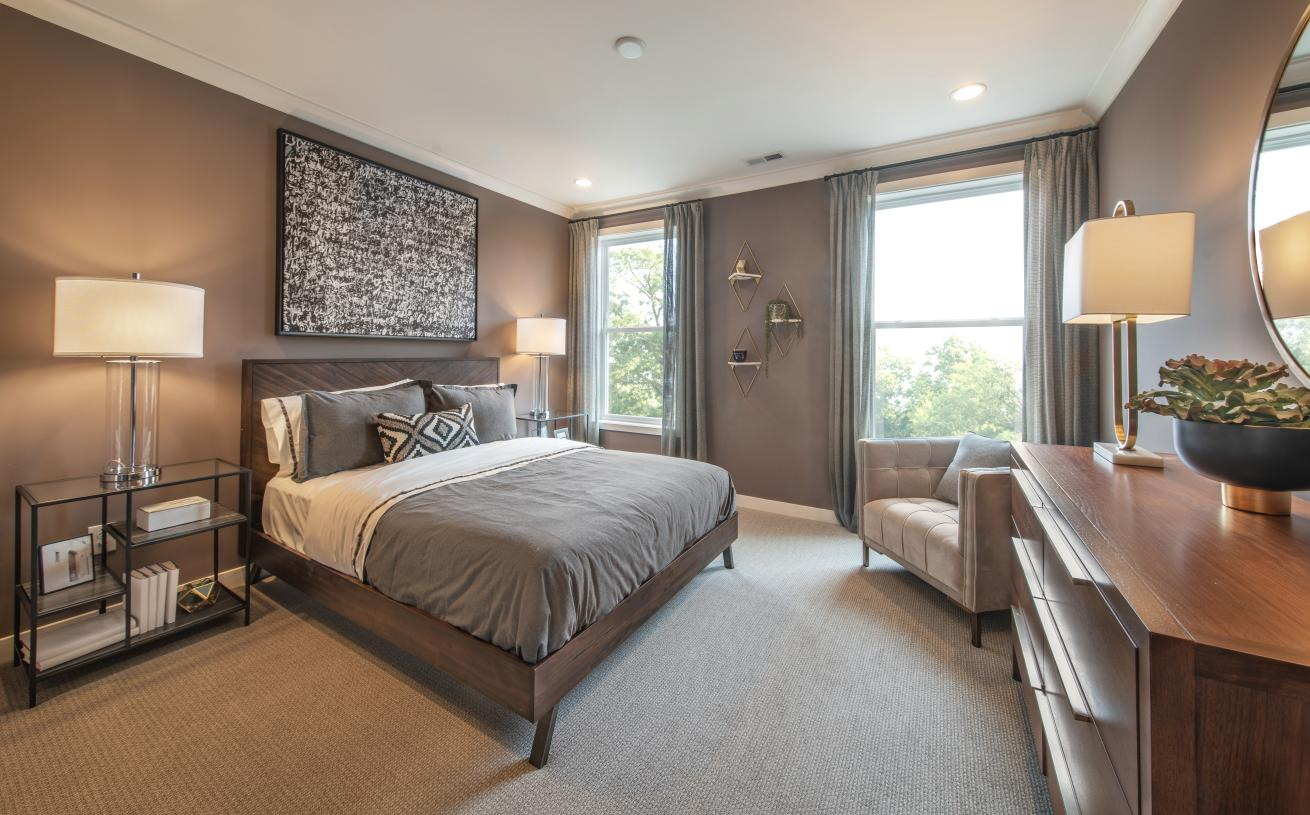 Secondary bedrooms feature sizable closets