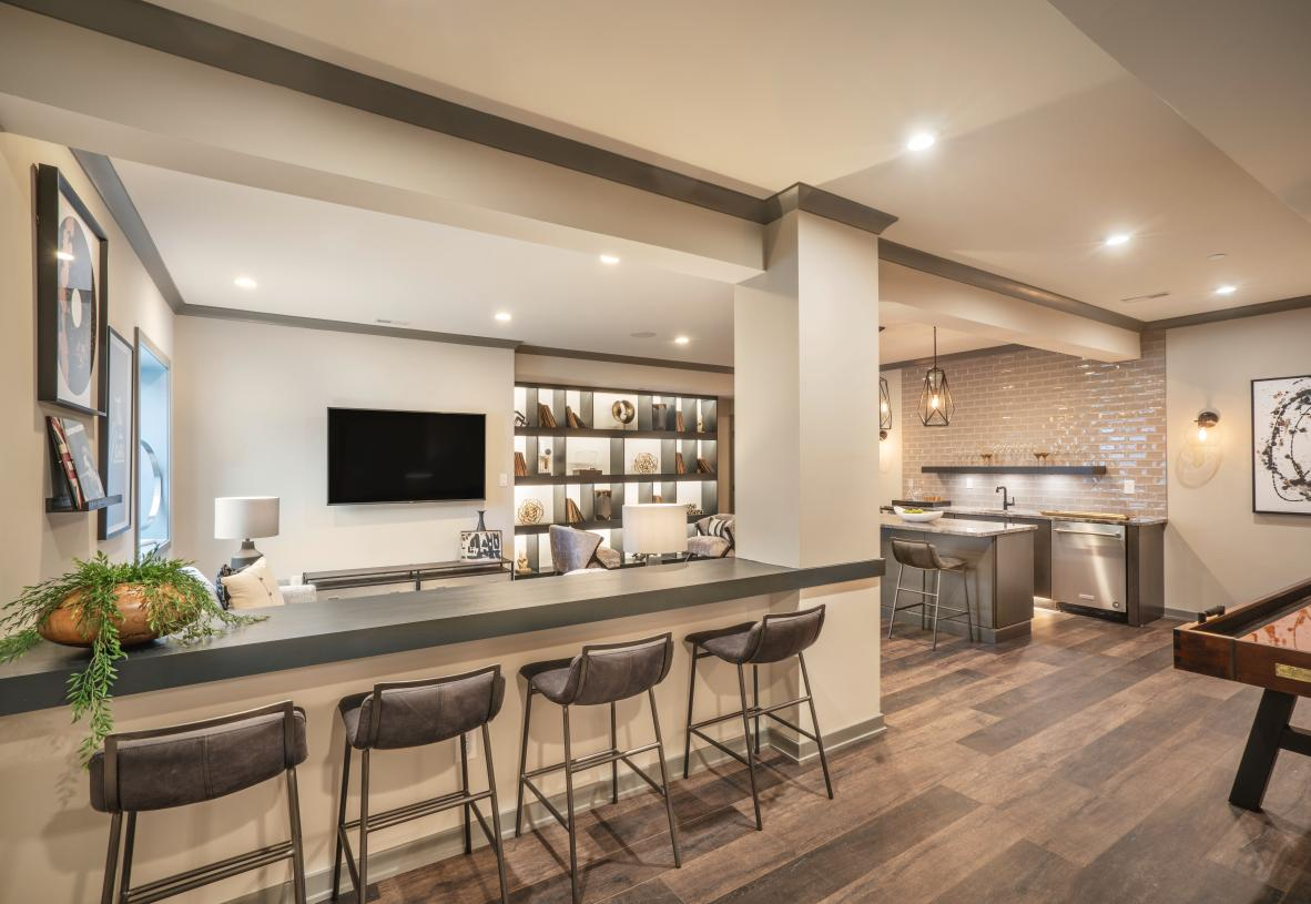Finished basements provide a great space to entertain