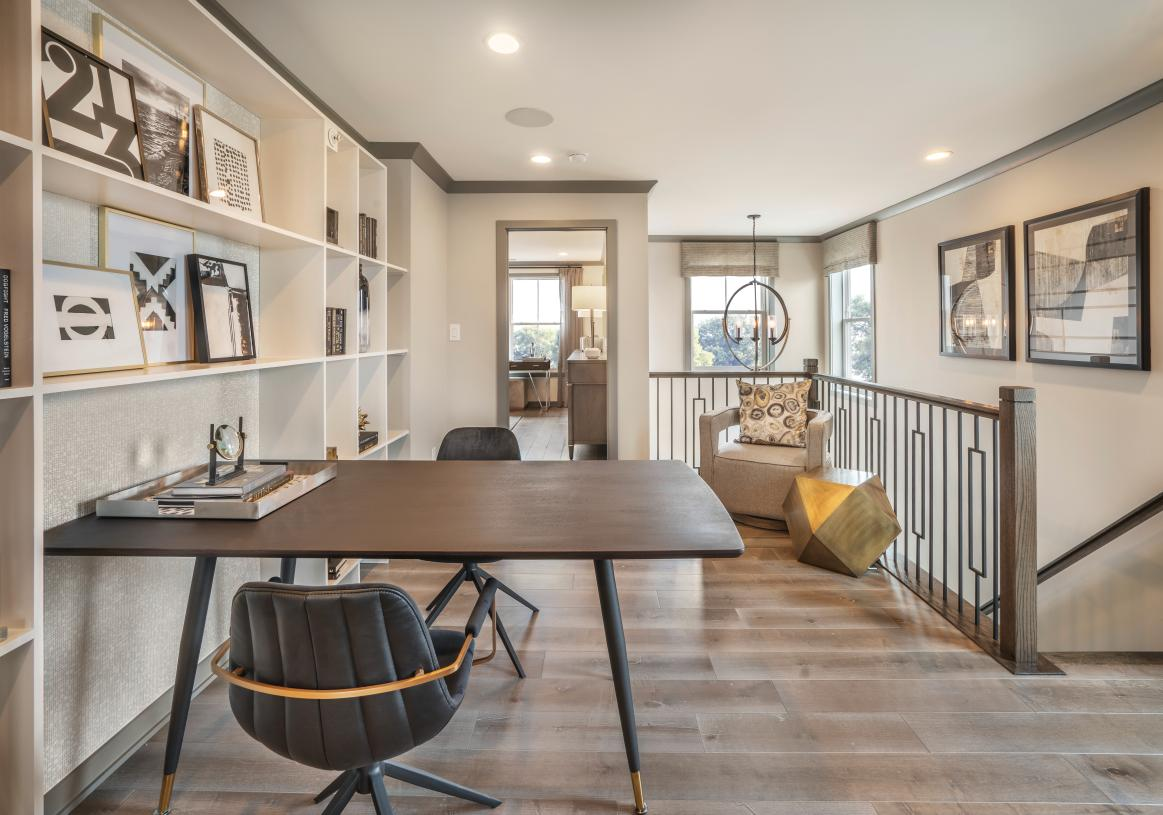 Loft space on the second floor offers another flexible living space