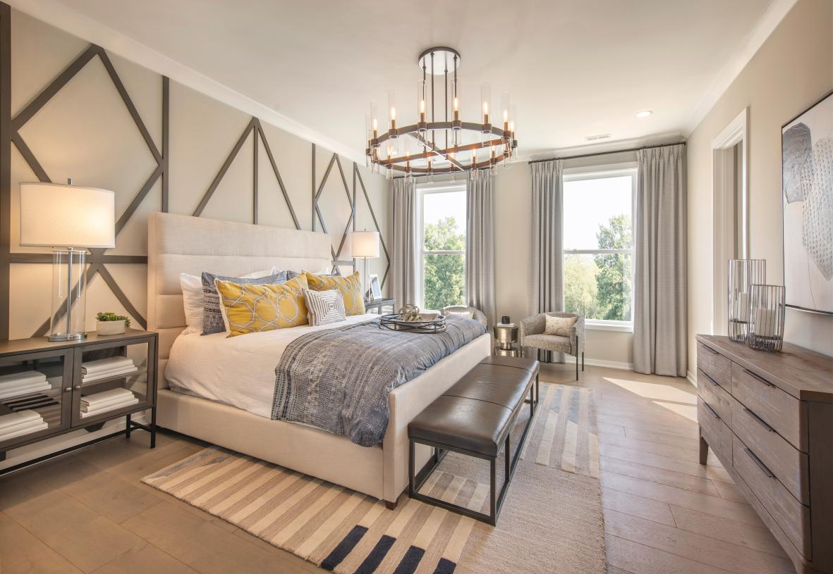 Beautiful and spacious primary bedroom suite