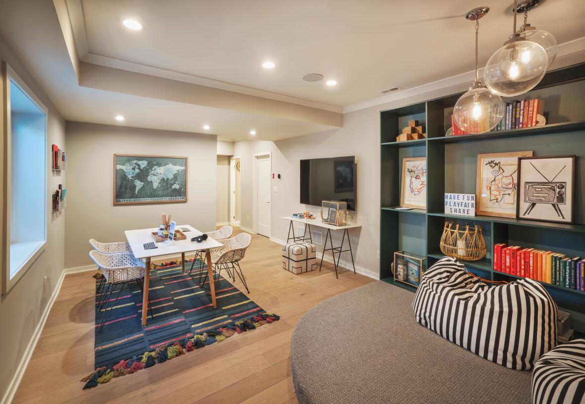 Finished basement provides flexible living space