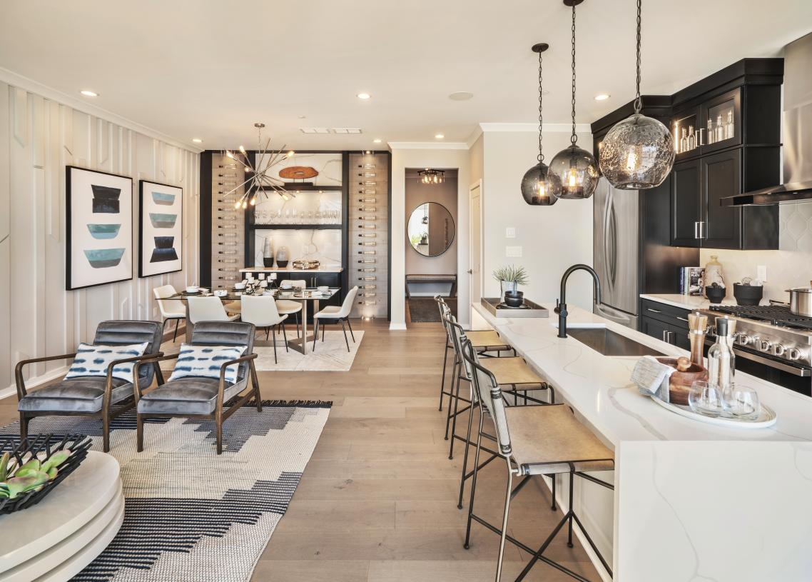 Open-concept floor plan, great for casual living and entertaining