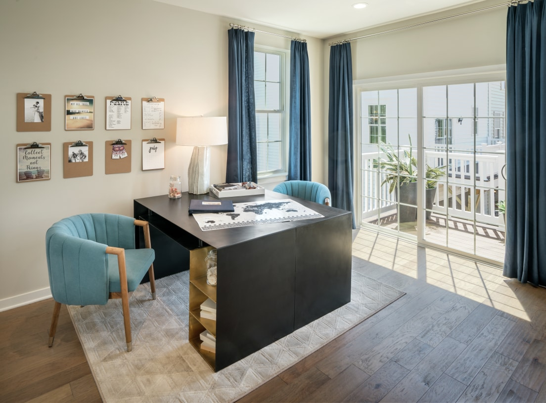 Flexible floor plans allow for home offices