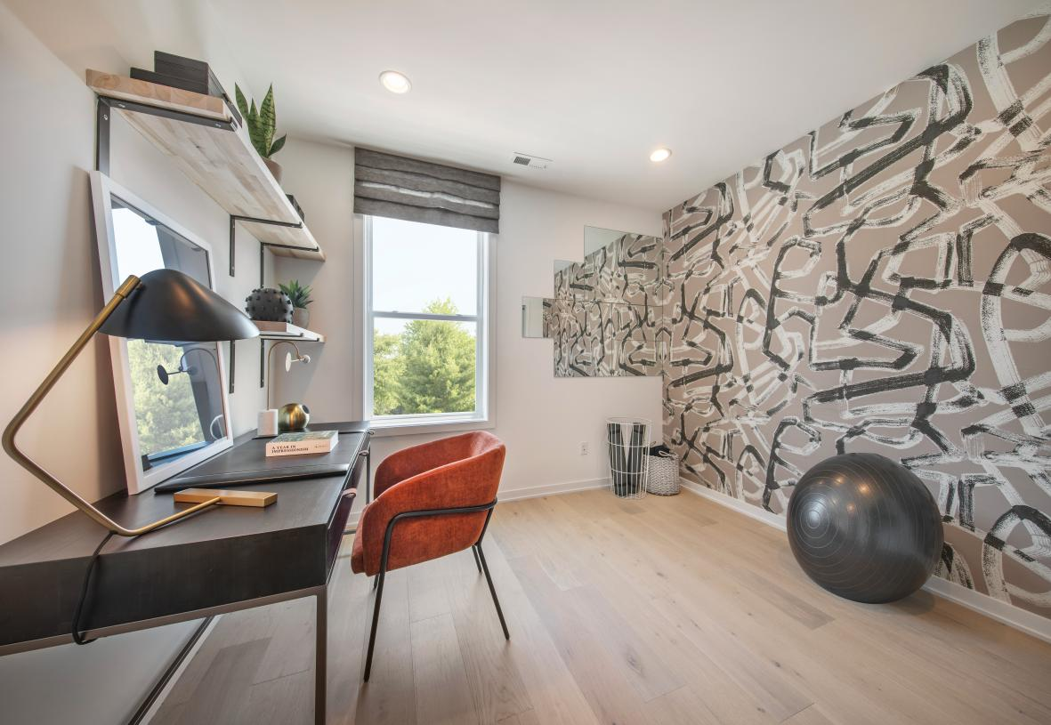 Flexible floor plans allow for home and home gyms offices