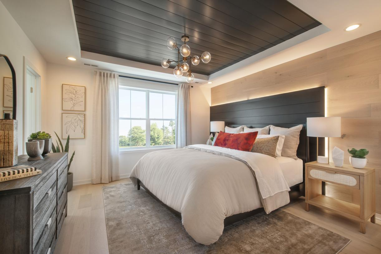 Spacious primary bedroom