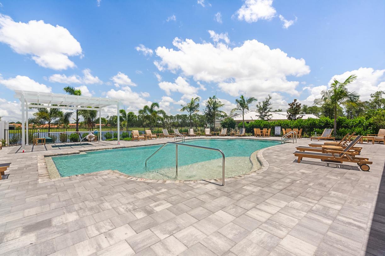 Enjoy the Florida sun at the community swimming pool