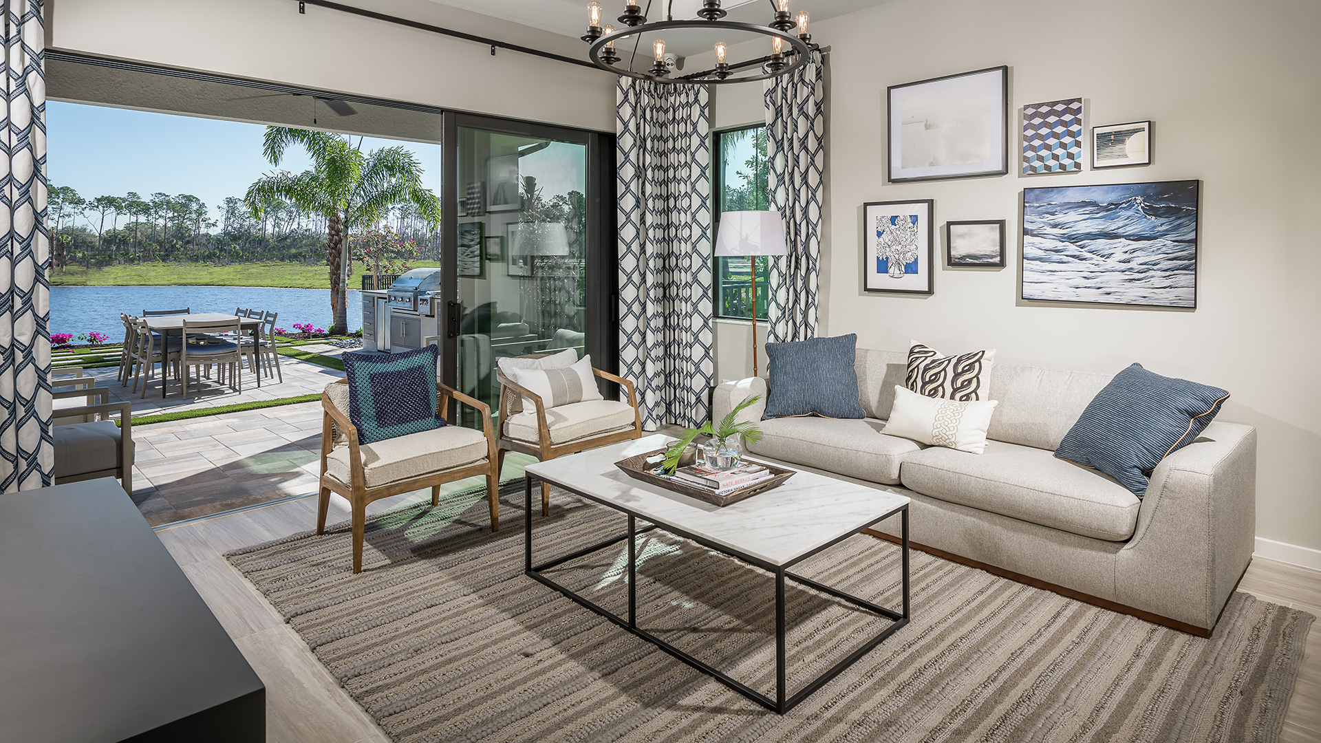 Indoor/outdoor living for easy entertaining