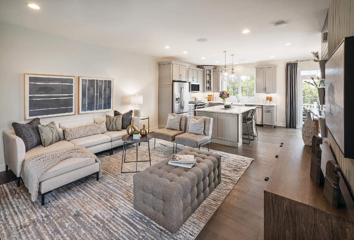 Ansford Elite living room and kitchen