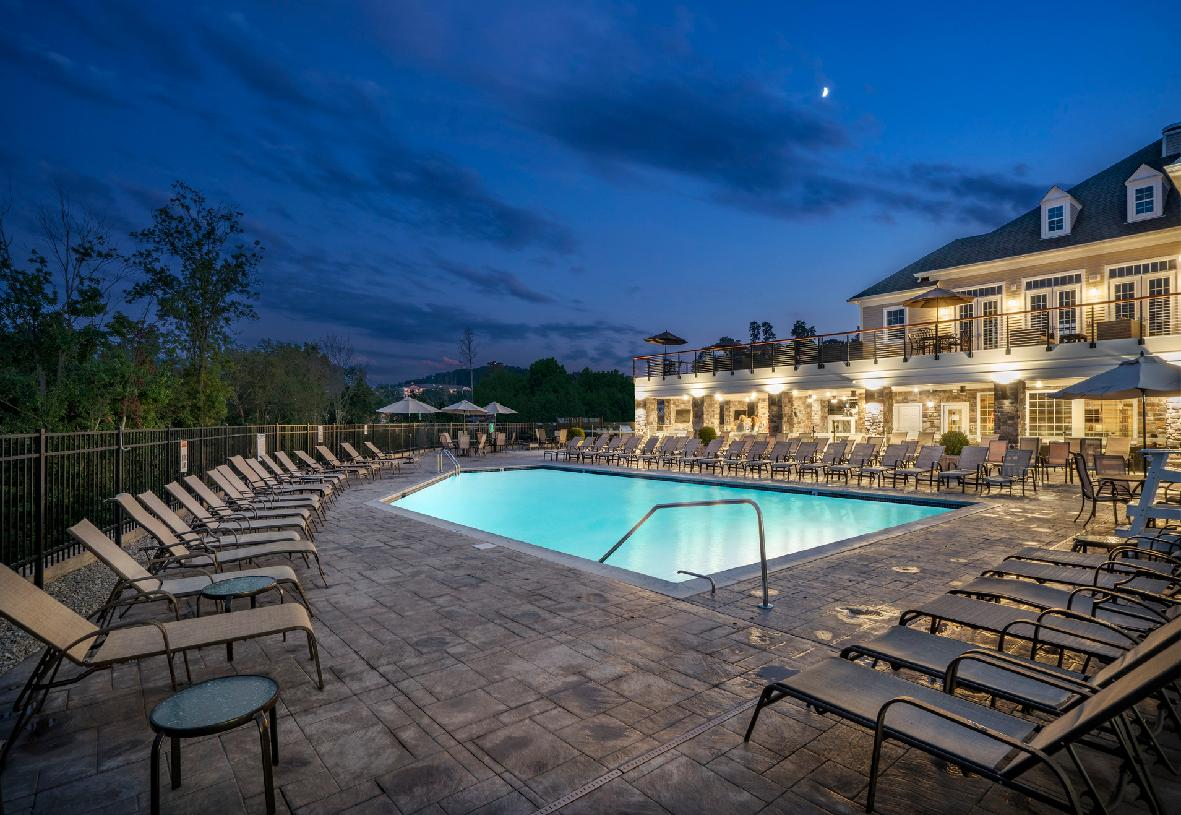 Clubhouse pool with sundeck
