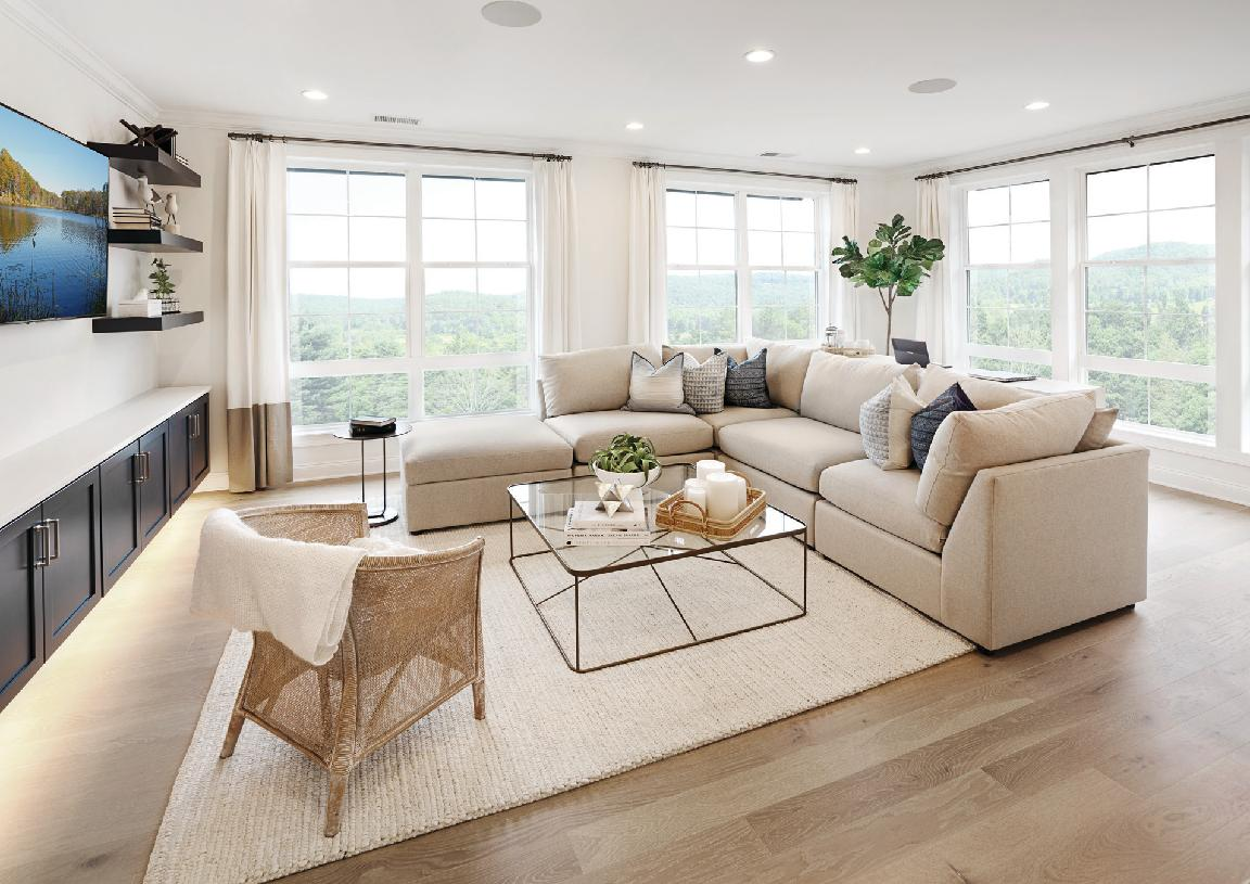 Ashbury Manor living room surrounded with natural light
