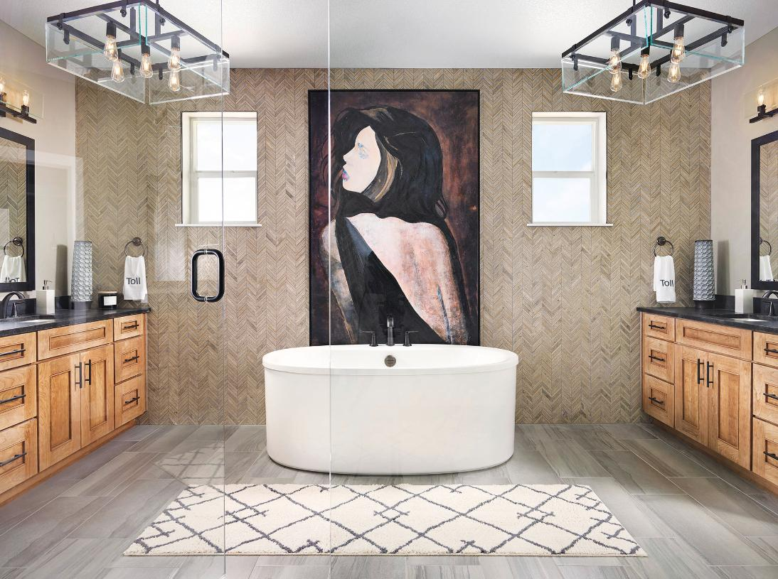 Dillon primary bathroom with freestanding tub