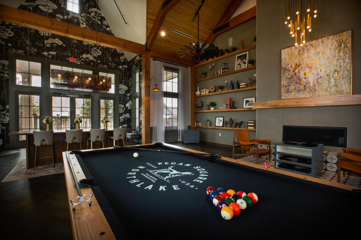 Challenge a neighbor to a game of pool at Jackson Hall Event Center