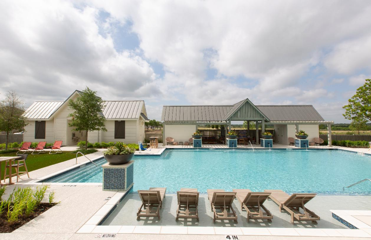 Relax by the resort-style pool