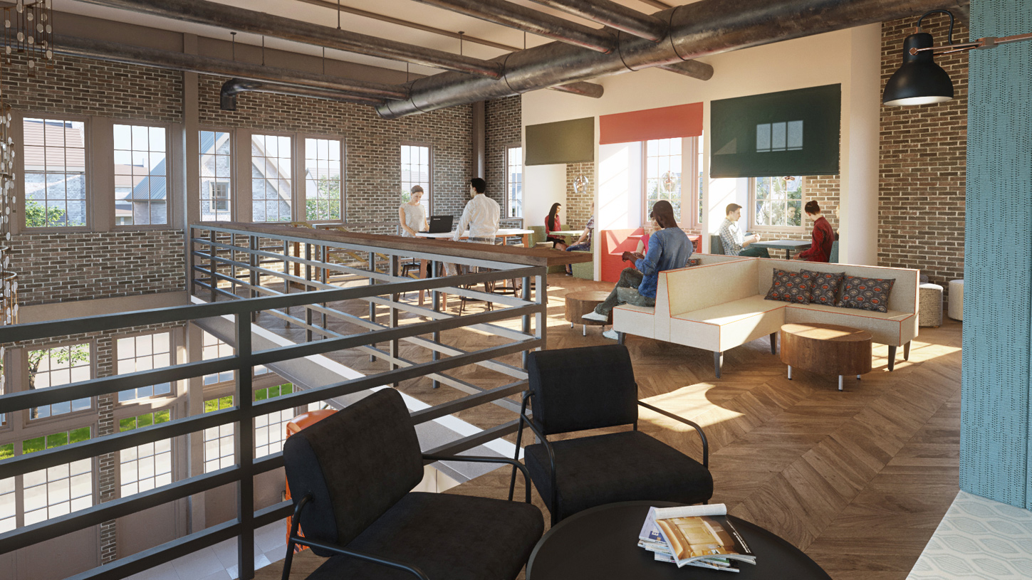 A flexible work space at the Co-working Space