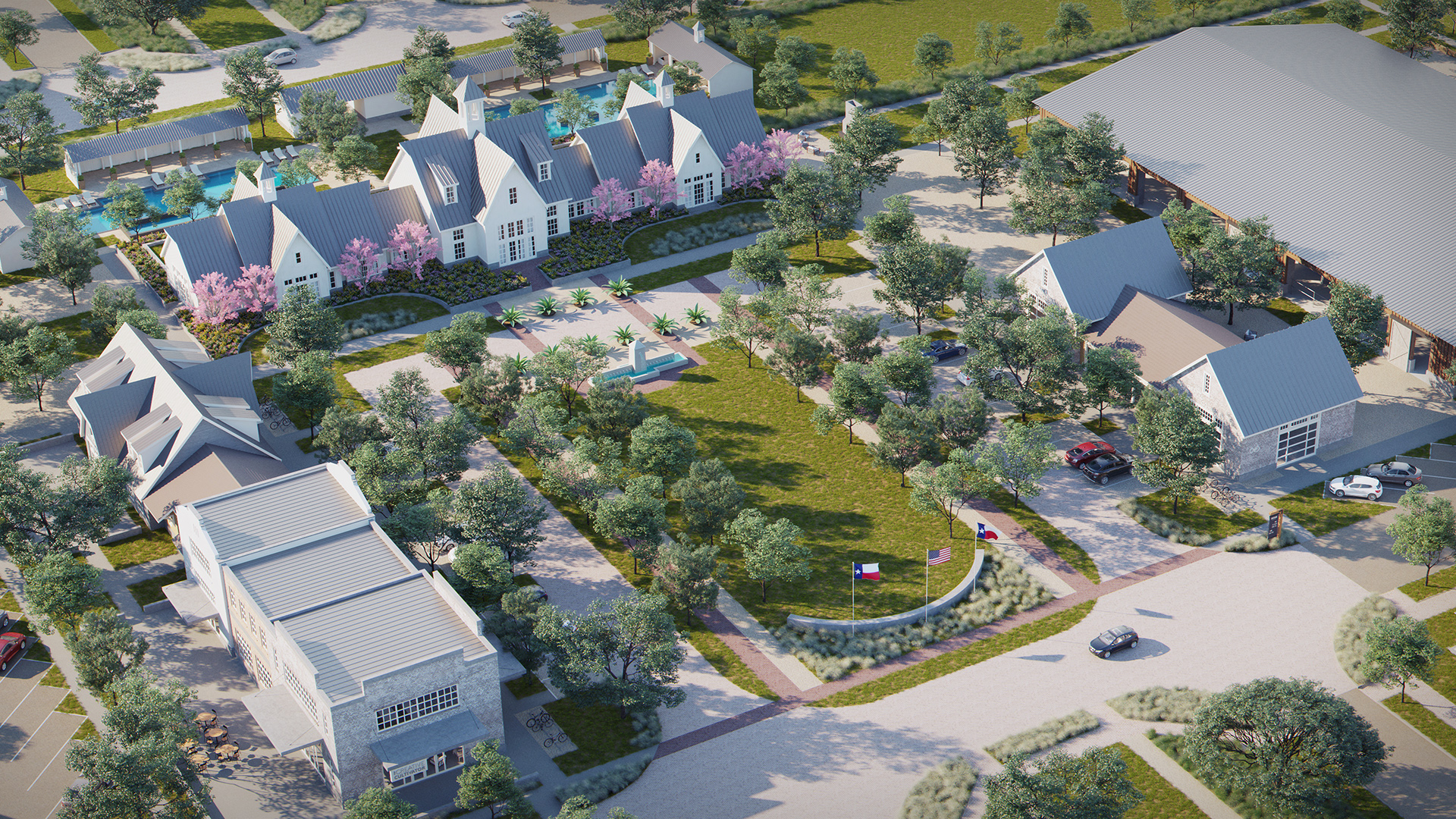 Artist's rendering of Pecan Square—The Square