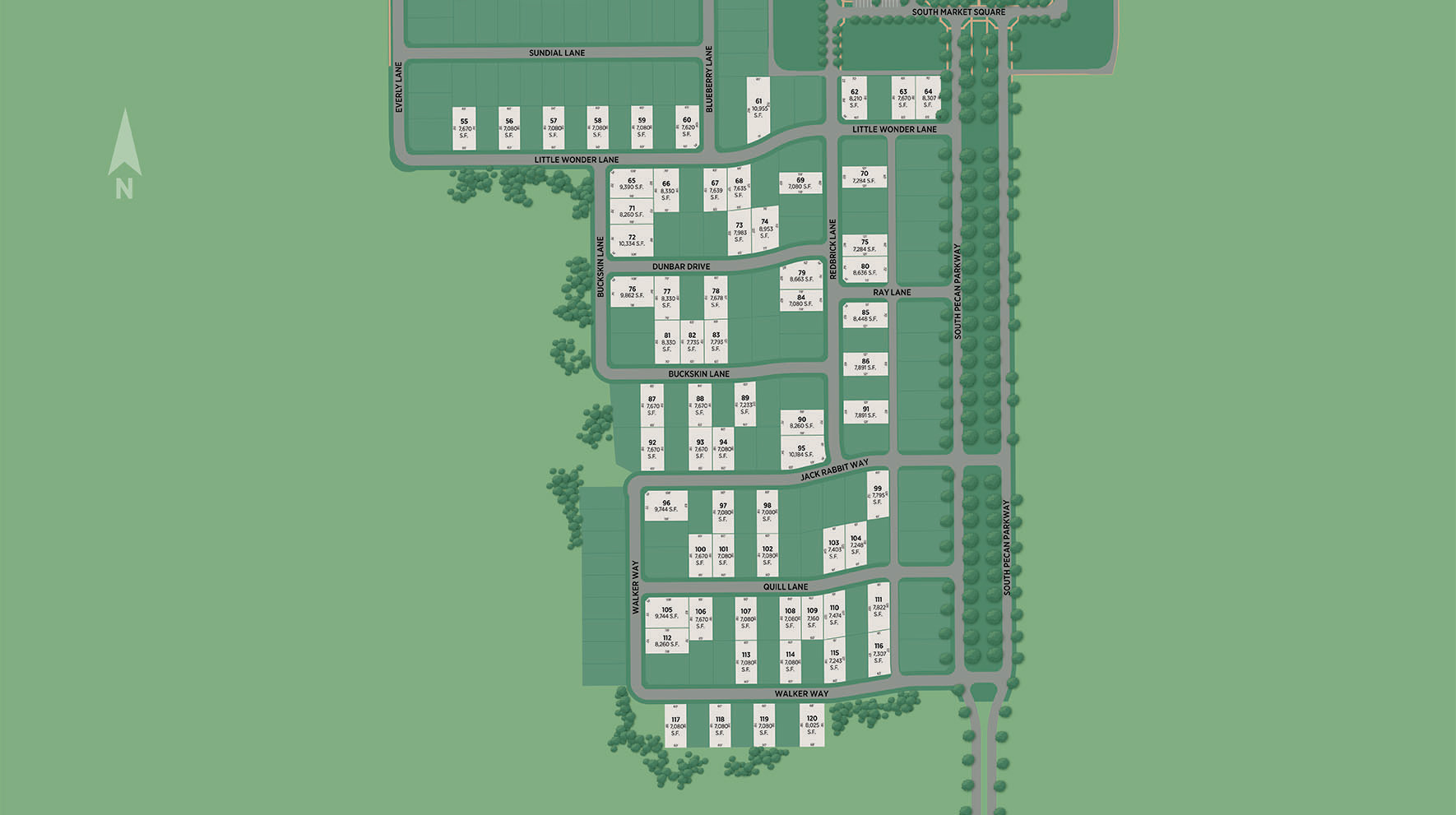 Pecan Square Site Plan