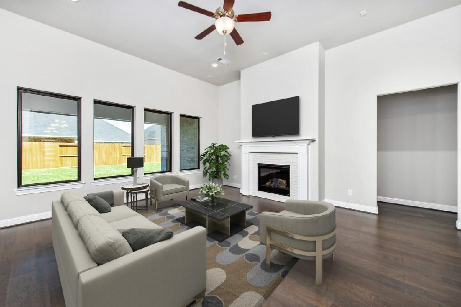 Stylish great room with optional fireplace