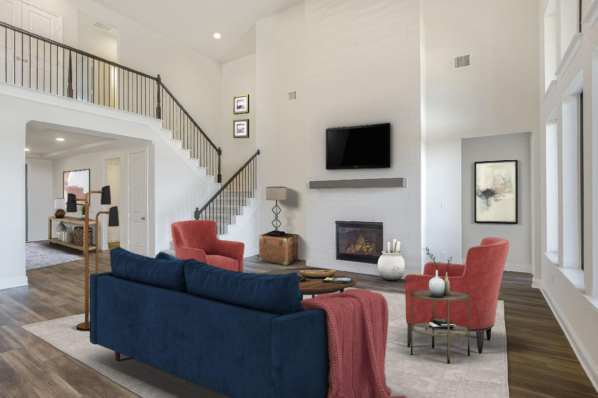 Expansive two-story great room