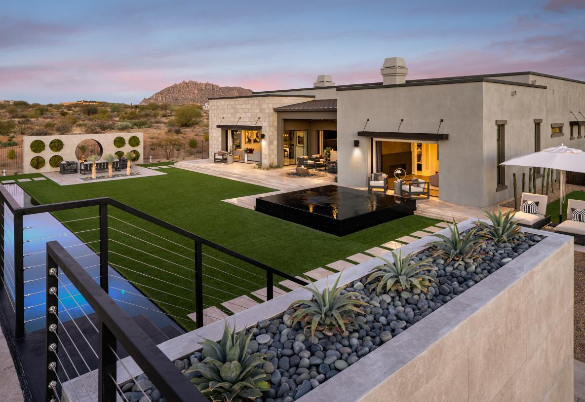 Beautiful Indoor/outdoor living spaces with panoramic mountain views