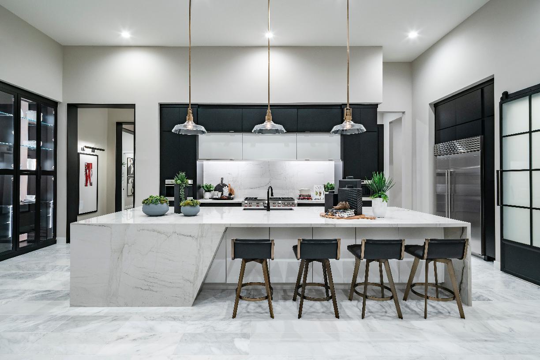Gorgeous kitchen with oversized island