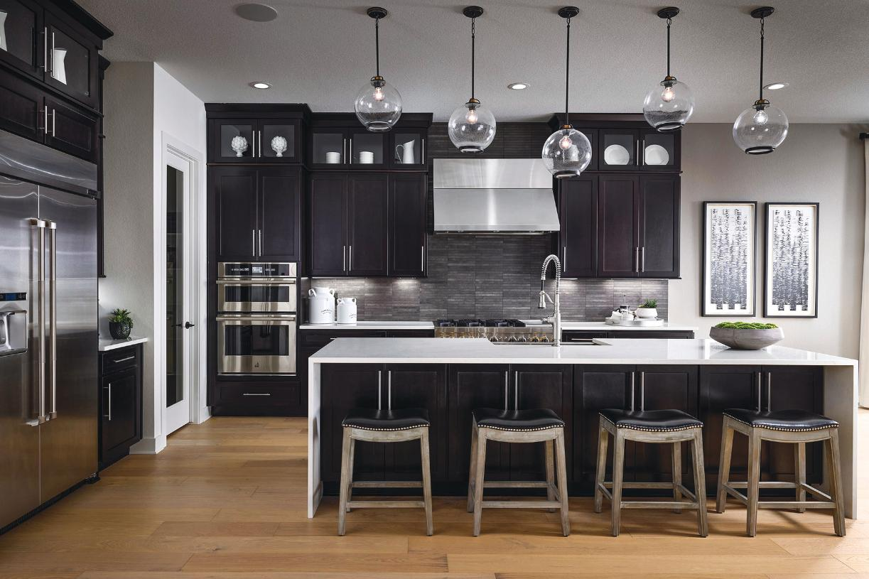 Crestone kitchen with center island and casual dining