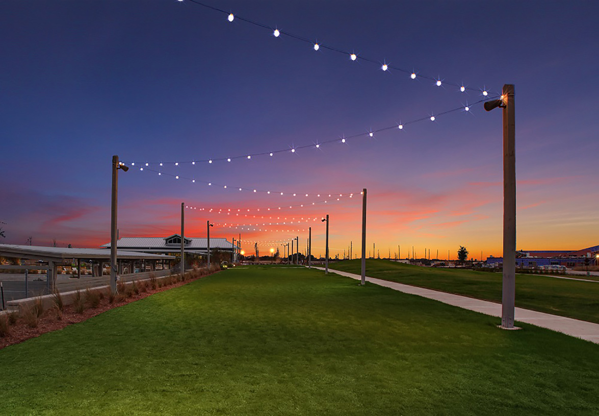 Event lawns are just one of the many amenities residents get to enjoy at Pomona