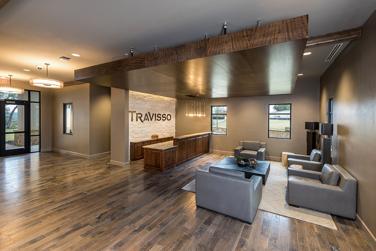 Travisso's 9,200-square-foot resident clubhouse with Lifestyle Director, fitness center and multi-purpose room for community events