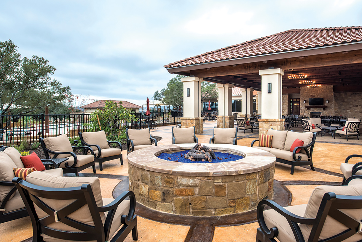 Relax with your neighbors at The Palazzo Clubhouse