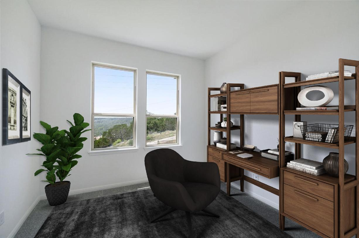 Secluded spacious office