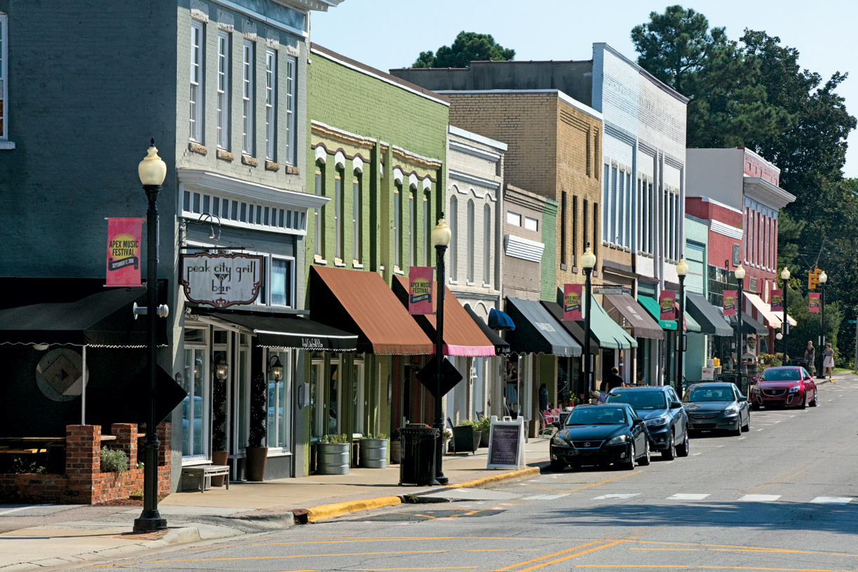 Live nearby charming Downtown Apex