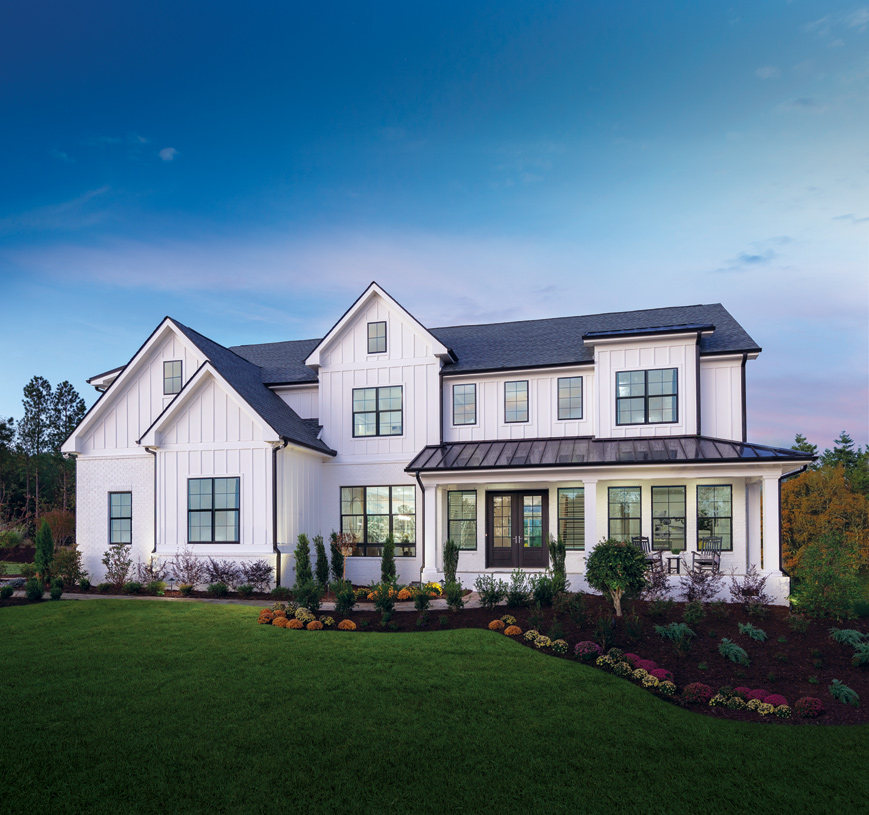 Beautiful exteriors with modern color schemes