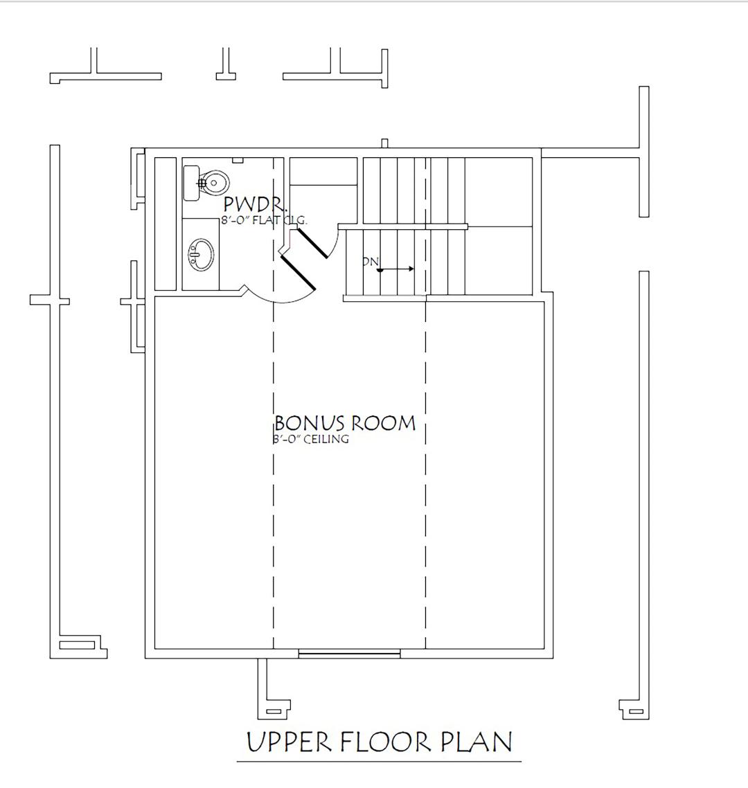 2nd Story Bonus Room Floor Plan
