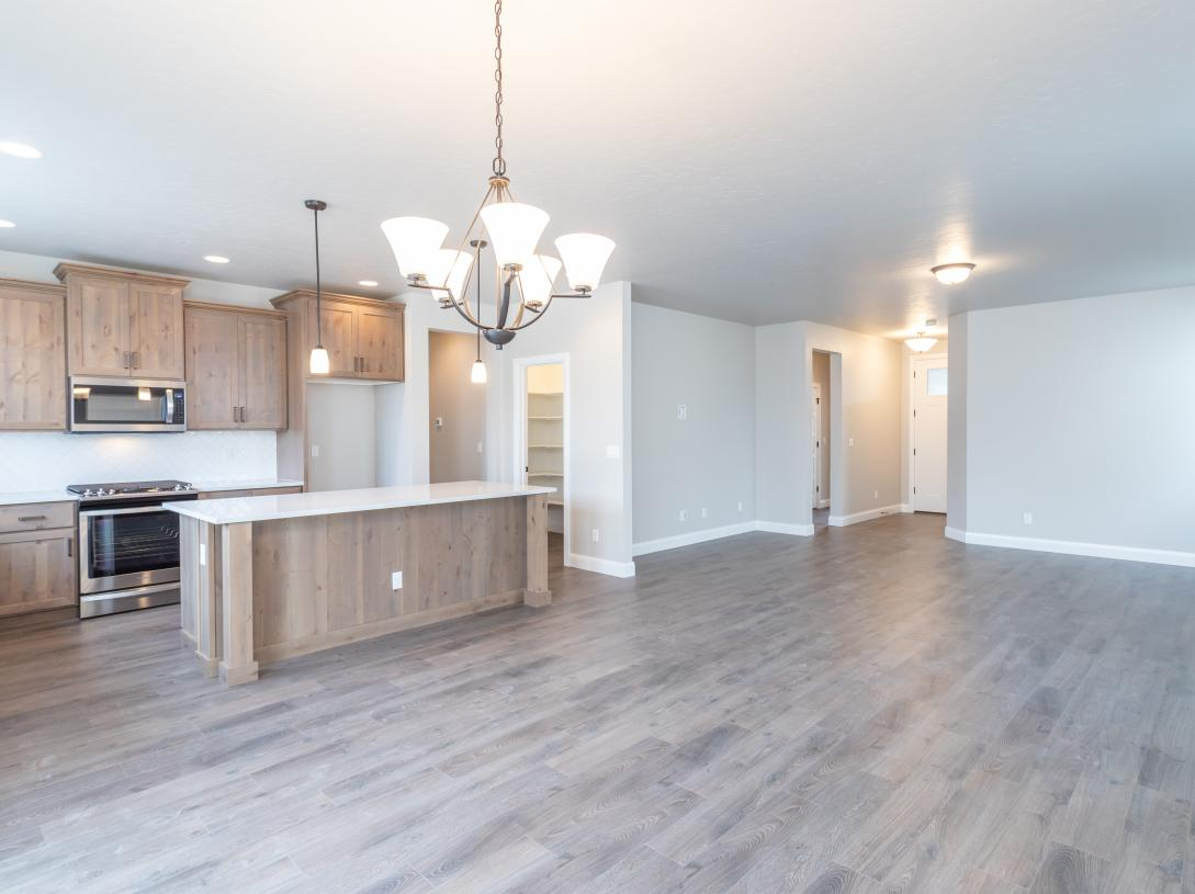 Spacious great room for family gatherings