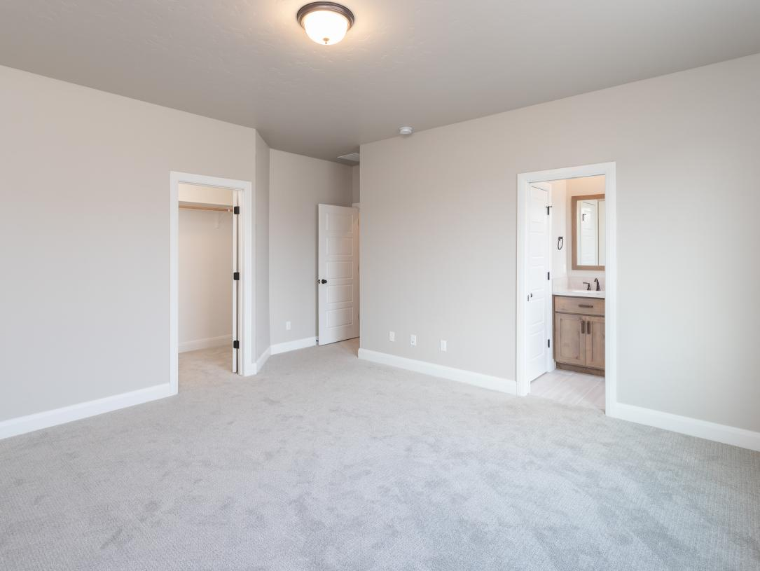 Large primary suite with walk-in closet