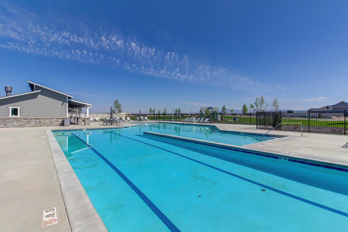 Unwind at the community pool
