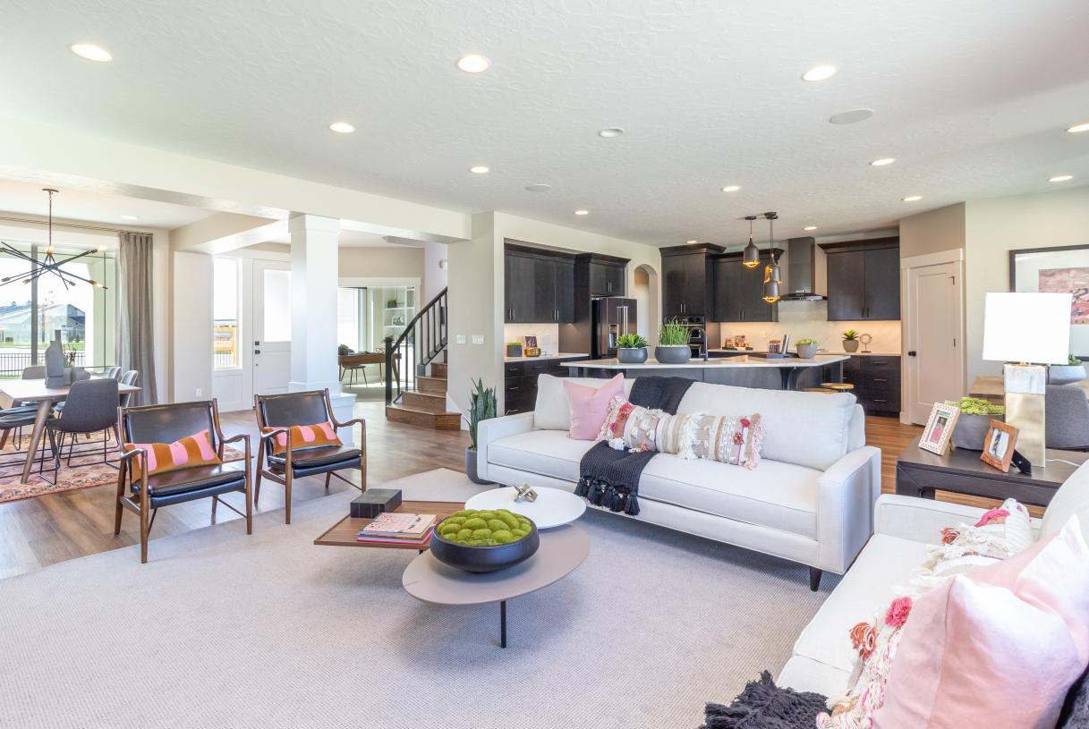 Inviting open-concept great room