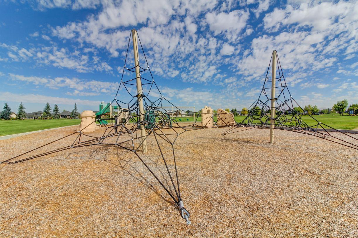 Playground and large open park spaces