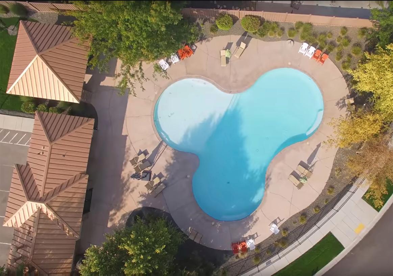 Outdoor community pool