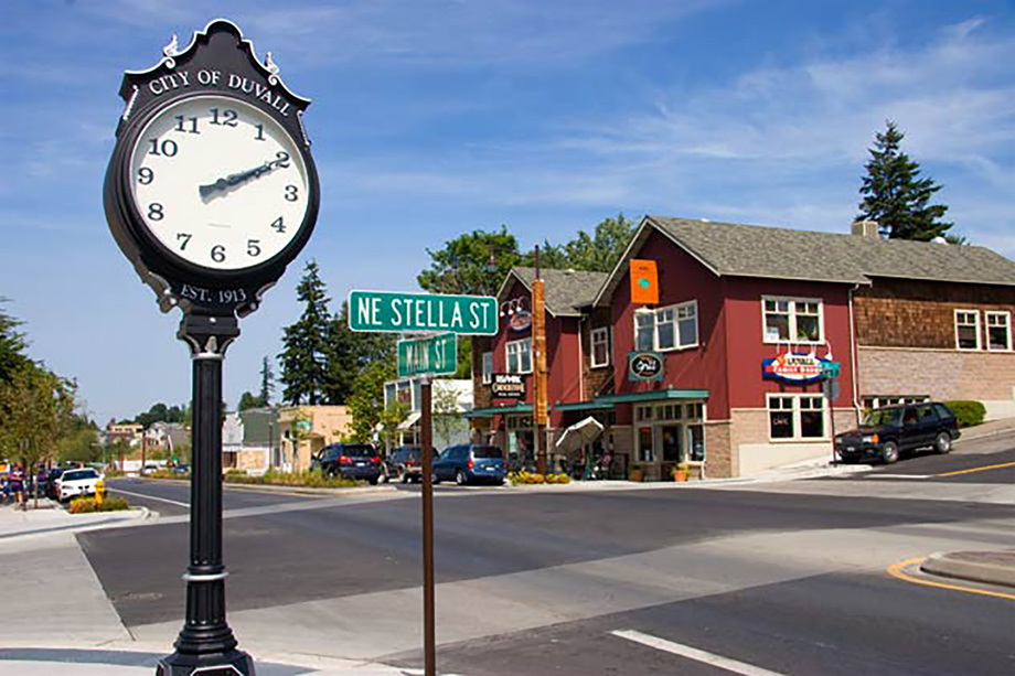 Explore the quaint shops in Duvall's historic shopping district