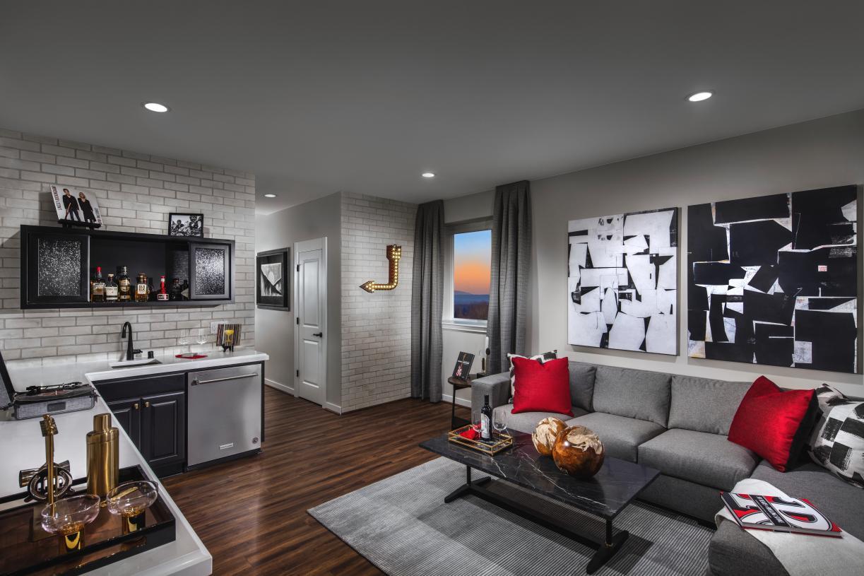 Versatile flex-space in the basement
