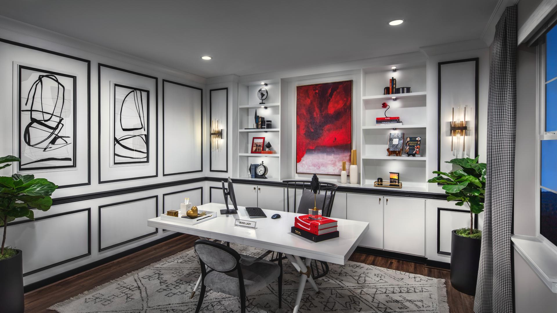 Floor plans offer plenty of space to have a dedicated office when working from home