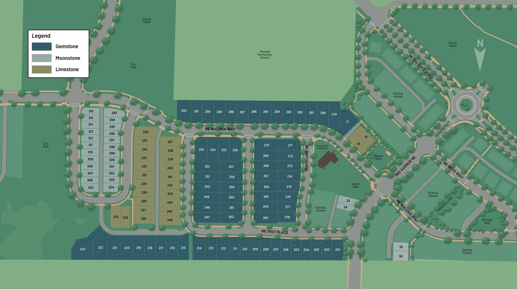 The Ridge at Big Rock - Gemstone Collection Site Plan