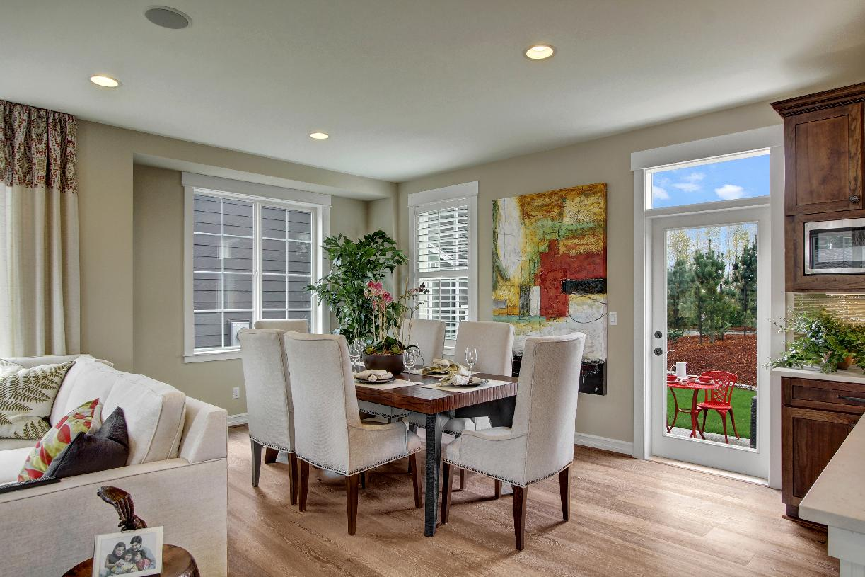 Dining room with access to rear yard