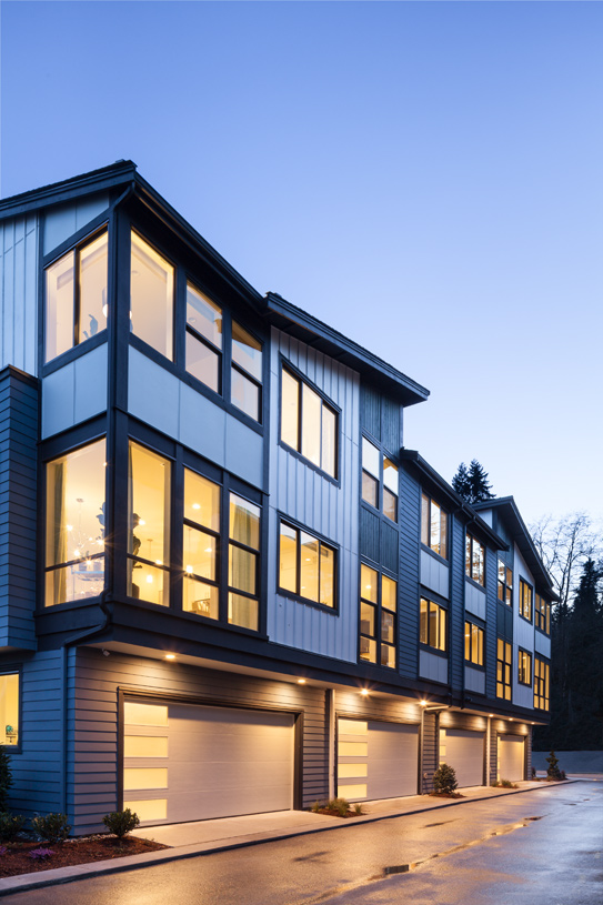 2-car garage of the Burke townhome