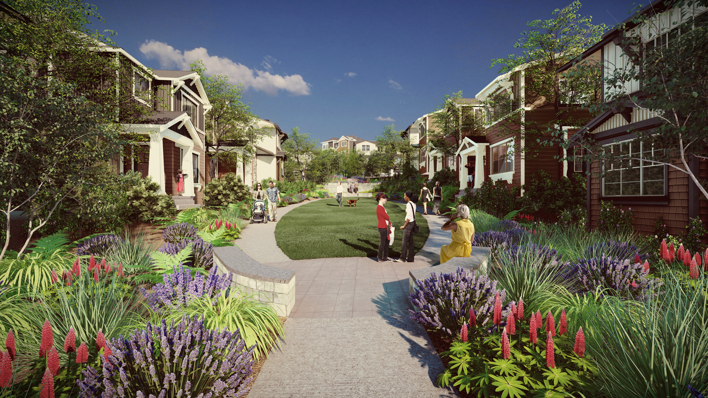 The Ridge at Big Rock offers picturesque open spaces where front doors open onto community parks