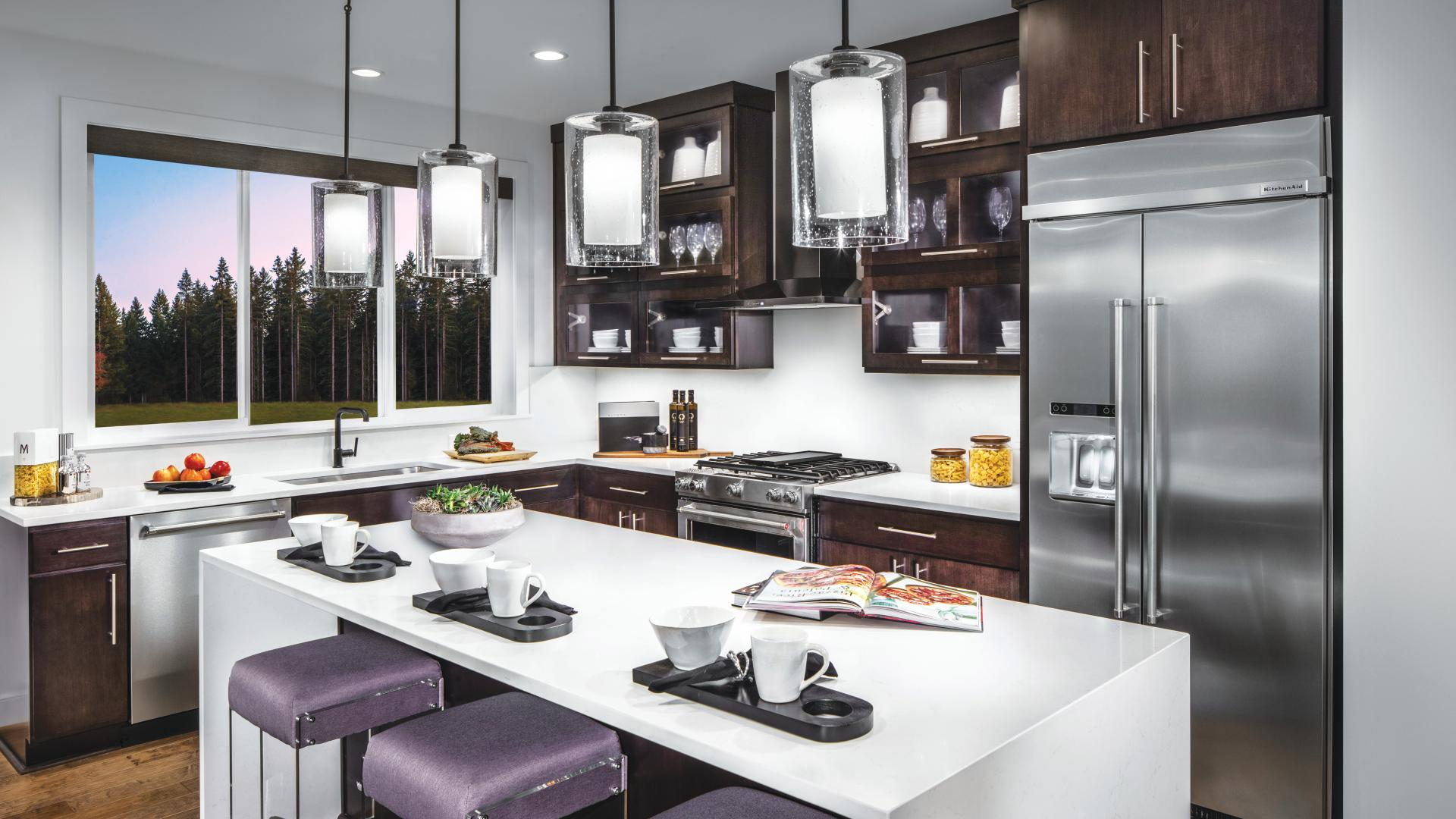 Well-designed kitchen with center island and plenty of counter space