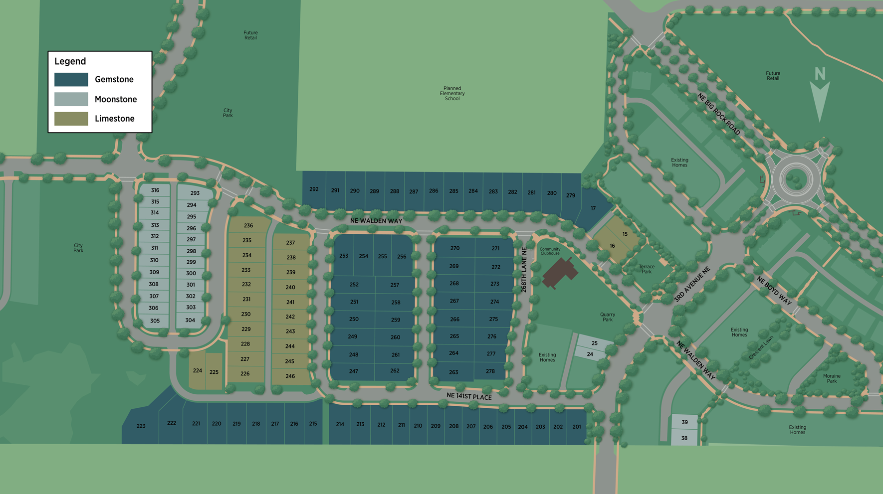 The Ridge at Big Rock - Moonstone Collection Site Plan