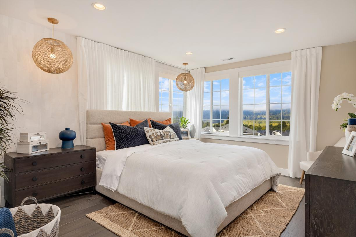 Bright and spacious primary bedroom suite