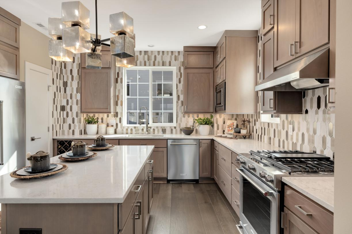Kitchen offers plenty of cabinet and storage space